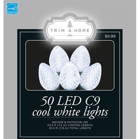 trim a home 174 50ct led c9 light cool white energy star