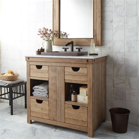 Wood Bathroom Vanity Chardonnay 36 Inch Single Sink Vanity Trails