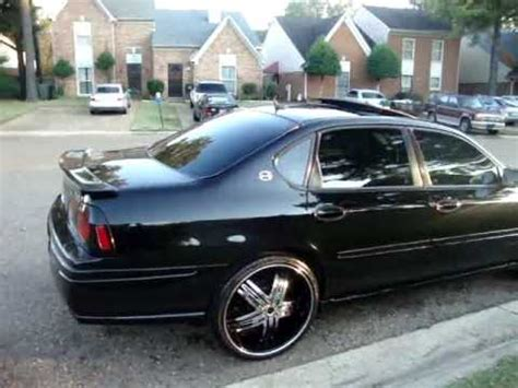"""05 impala ss clean!!!!!!!!!!! on 22s & two 15"""" inch kicker"""