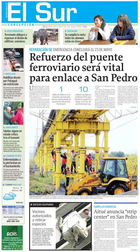 da del sur noticias peri 243 dico el sur chile peri 243 dicos de chile edici 243 n de