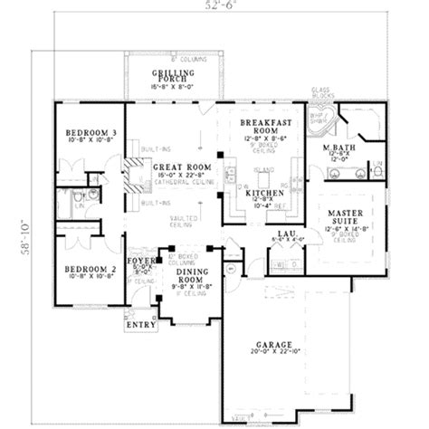ranch house plans mackay 30 459 associated designs european style house plan 3 beds 2 00 baths 1600 sq ft