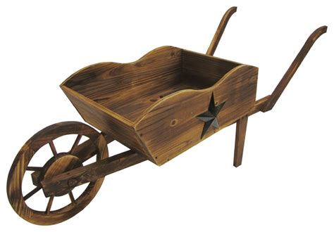 Rustic Wheelbarrow Planter by Wooden Wheelbarrow Planter Rustic Wheelbarrows And