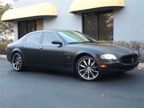 maserati quattroporte matte black sell used 2005 maserati quattroporte qp customized matte