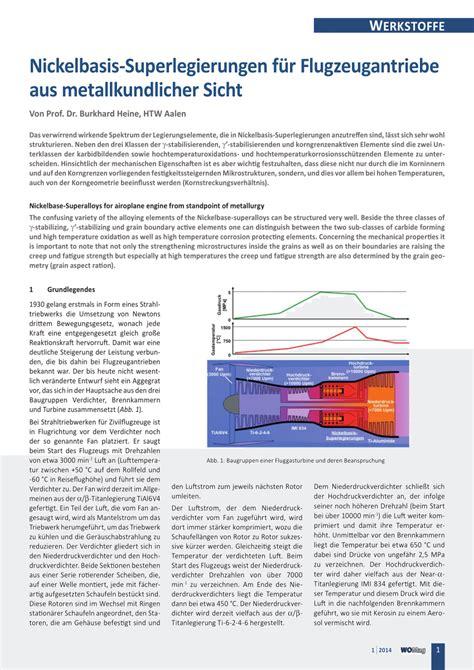 Ck Free Gelang nickelbasis superlegierungen f 252 r flugzeugantriebe aus metallkundlicher sicht pdf