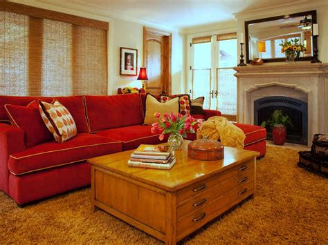 red furniture living room photo page hgtv