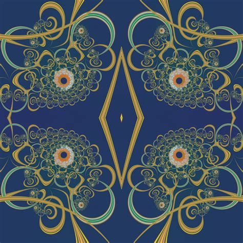 gold colored and blue mum fabric eclectic_house
