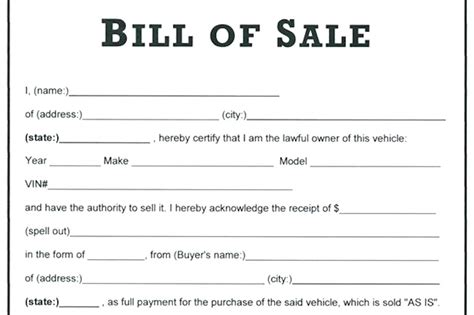 cancellation for a bill of sale receipt template receipt for sale of vehicle general bill of sale form