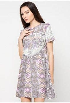 Blouse Tenun Ikat Donggala Grey sackdress batik sinaran from arjuna weda in grey 1