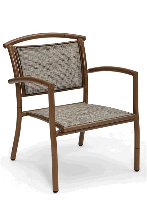 Bamboo Outdoor Chairs by Lanai Outdoor Lounge Arm Chair With Aluminum Frame Bamboo
