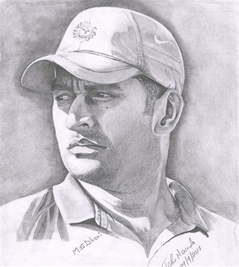 M S Dhoni Sketches ms dhoni my pencil drawing my drawing