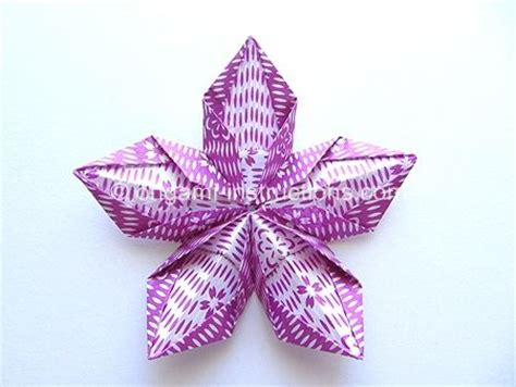 Origami 5 Petal Flower - 17 best images about origami flowers on