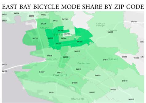 area code map eastern us the zippiest zip codes for east bay bike commutes bike