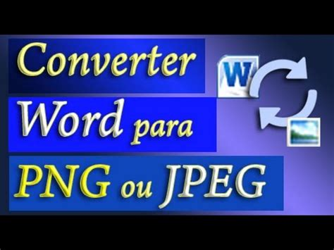 word  png converter