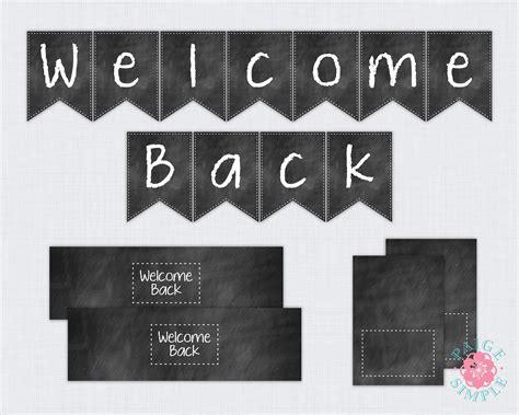 Welcome Back Sign Printable