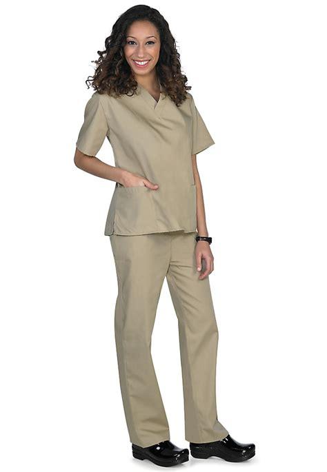 Scrub Kaki khaki two unisex uniforms scrub set scrubs 4 less of jax