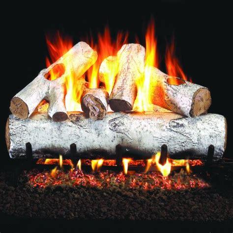 best gas fireplace logs in birch home