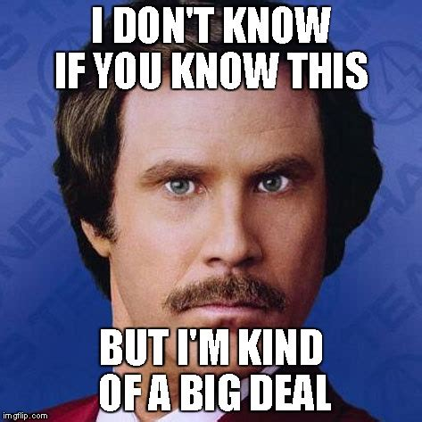 Deal Meme - ron burgundy i don t know if you know this imgflip