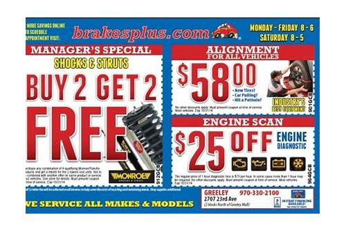 online coupons for brakes plus