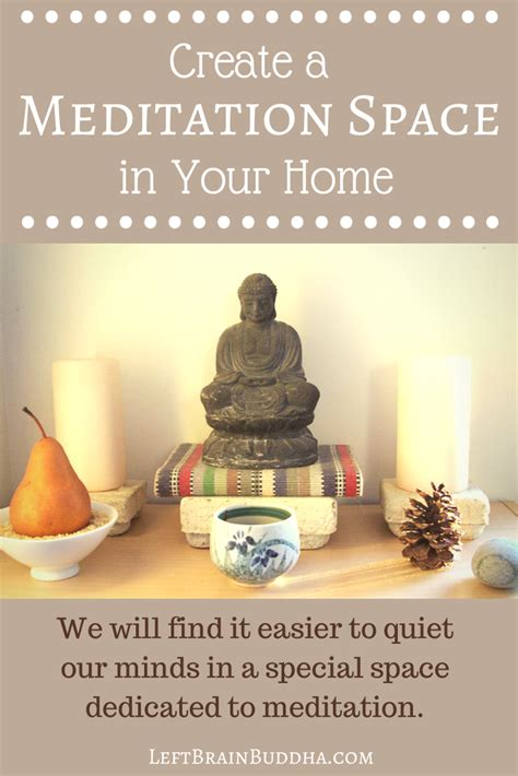 how to make space create a meditation space in your home left brain buddha