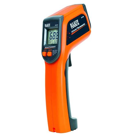 Termometer Digital Infrared klein tools 12 1 infrared digital thermometer ir1000 the home depot