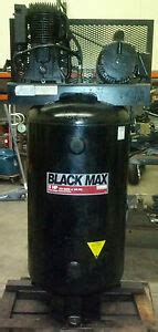 sanborn black max 5 hp two stage industrial air compressor 80 gallon 1 phase ebay