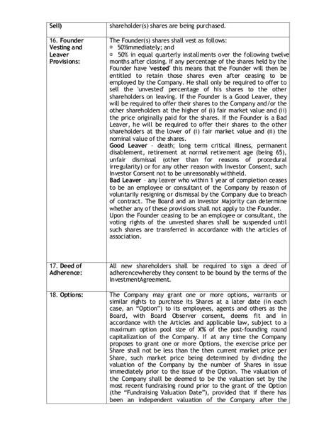 joint venture term sheet template this is how a standard term sheet looks like