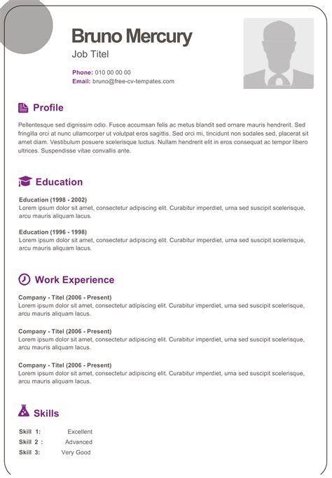 dynamic resume templates bruno dynamic resume template for free