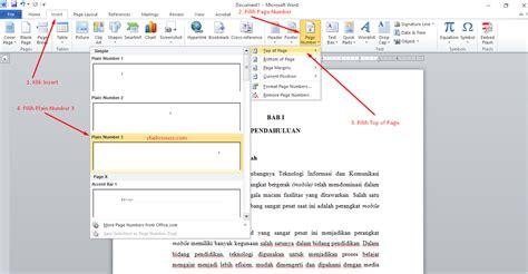 cara membuat penomoran halaman pada ms word 2010 membuat penomoran halaman berbeda posisi di microsoft word