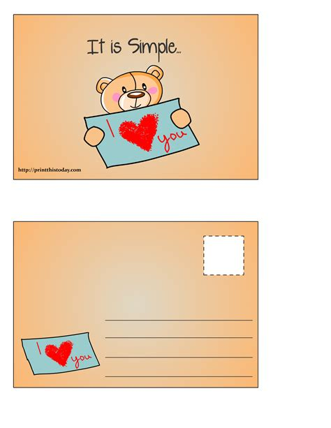 printable love postcards 24 free printable love postcards