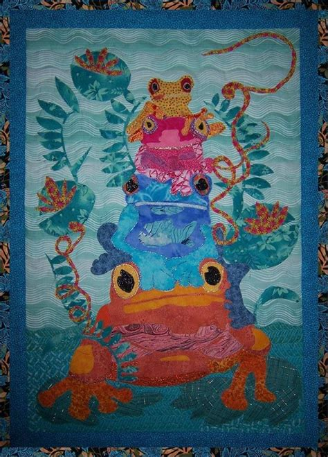 17 best images about frog quilts on hexagons