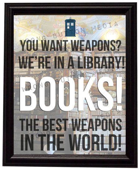 printable library quotes doctor who 10th doctor library quote art print geeky