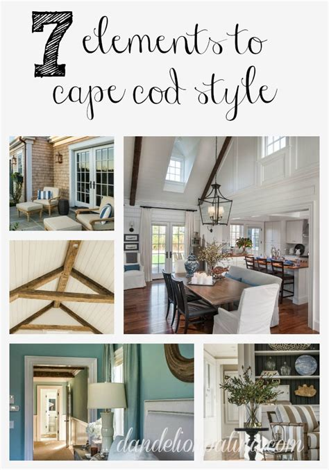 7 elements to cape cod style dandelion patina