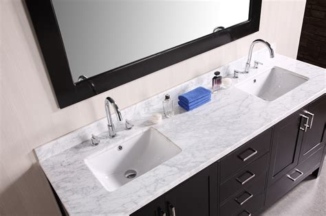 adorna 72 inch transitional double sink bathroom vanity set