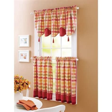 red kitchen curtains walmart kitchen astonishing walmart valances for kitchen walmart