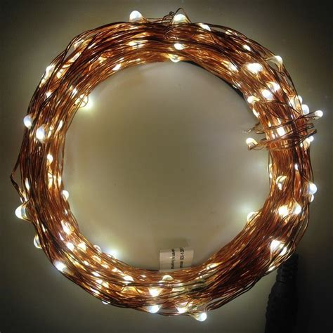 Quot Seed Quot Fairy Lights Copper Wire Warm White 20m The Reject Shop Solar Lights
