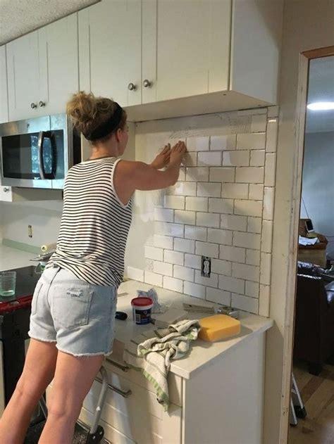 how to apply backsplash in kitchen subway tile backsplash step by step tutorial part one kitchen kitchen remodel kitchen