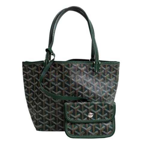 The Go Green Goyard St Louis Shopper Tote by Goyard Green Canvas Louis Junior Tote Buy Sell Lc