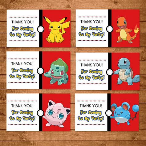 printable christmas gift certificates pokemon go search pokemon goody bag tags red white pokemon treat bags