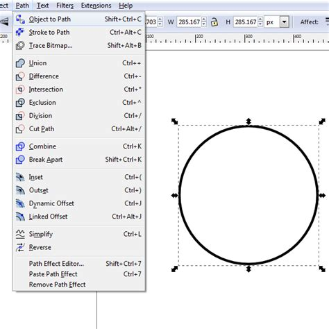 layout editor draw circle use inkscape to create a pair of sunglasses with ease