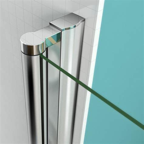 Bi Fold Shower Door Frameless Aica Frameless Bi Fold Pivot Shower Enclosure 6mm Glass Door Screen Reversible Ebay