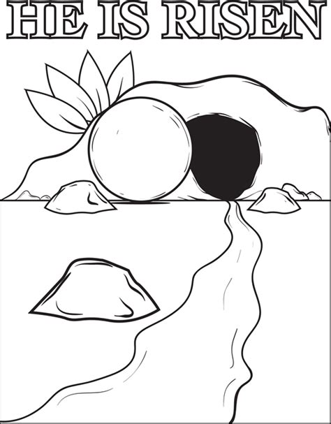 jesus resurrection coloring pages the resurrection of jesus christ coloring page easter