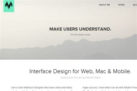 layout site portfolio 34 flat website layouts for design inspiration idevie