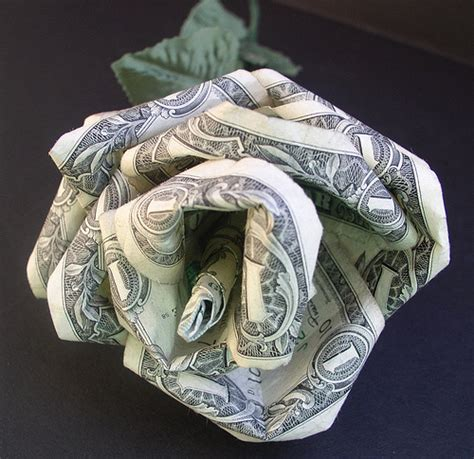 Money Origami Roses - dorothy kaplan money modular origami this is a
