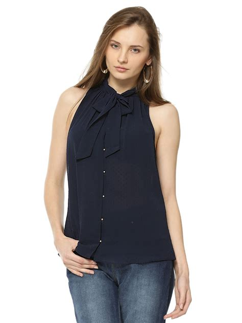 Top Puspita Bow 1 buy forever new bow top for s blue blouses in india