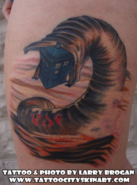 dune tattoo dune sandworm tardis klingon by larry