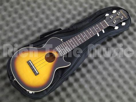 Ukulele Electric Epiphone Les Paul epiphone les paul acoustic electric ukulele vintage sunburst rich tone