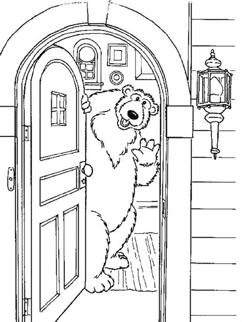 coloring pages for little house in the big woods bear in the big blue house coloring pages