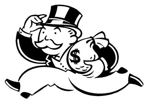 free coloring pages of monopoly logo