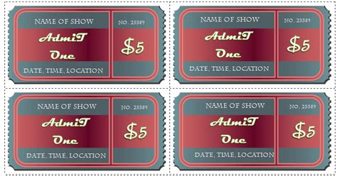 avery event ticket template 6 ticket templates for word to design your own free tickets