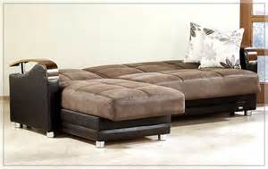 Brown leather comfortable sofa bed along two tone convertible sofa bed